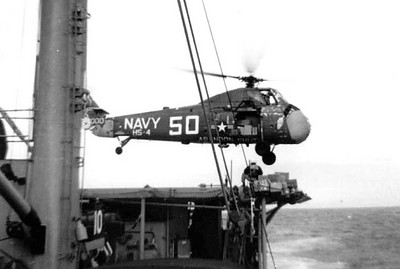 Seabat Cargo Helicopter on our Flight Deck