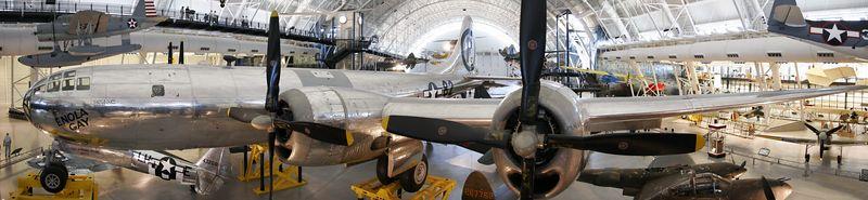 The Enola Gay, the B-29 that dropped the atomic bomb on Hiroshima, Japan 6 AUG 45