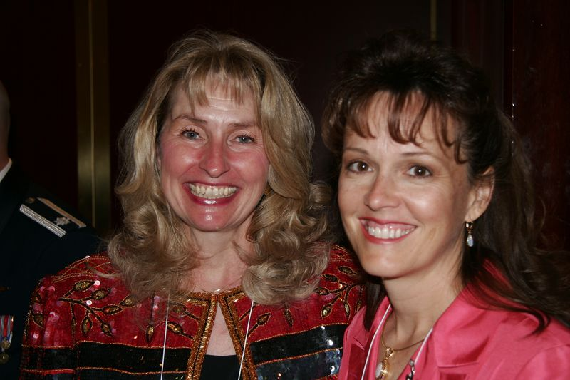 Cathy Lorenzo and Cindy -- two of Delta's prettiest