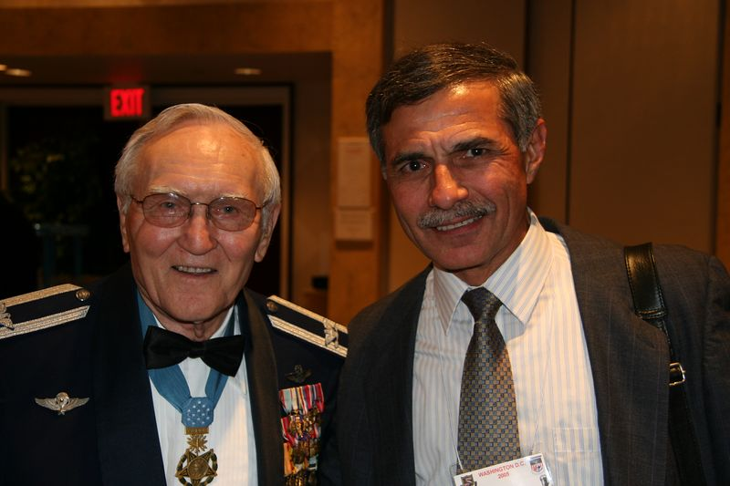 Marty with Medal Of Honor recipient Col. Bud Day