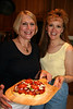 Debbie Spencer and Cindy Cavato--looking good!  Nice pizza, too...