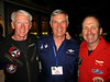 Three great Thud pilots:  Dave Waldrop, John Casper and Cal Tax