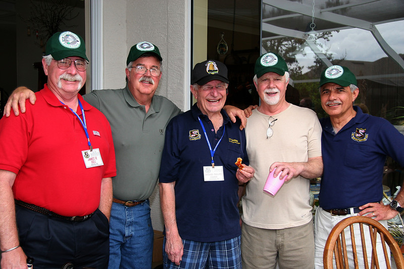 Jim Bell, Gregg Hanson, Mike Cooper, Steve Nichols and Marty Cavato