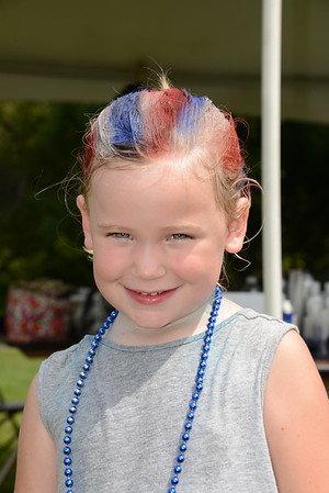Rockin For The Troops - 2015 - Shave The Nation - People getting Mohawk's and/or having their hair painted Red, White, and Blue!