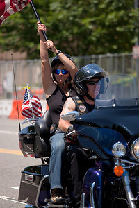 On the morning of May 30, 2010 on Memorial Day Weekend Thousands of Rolling Thunder motorcycles ride through Washington DC in an annual demonstration seeking to improve veteran benefits and resolve POW/MIA issues.  Rolling Thunder has evolved to be not only a demonstration for the POW/MIA issue but also a demonstration of patriotism and respect for soldiers and veterans from all wars. (Photo by Jeff Malet)