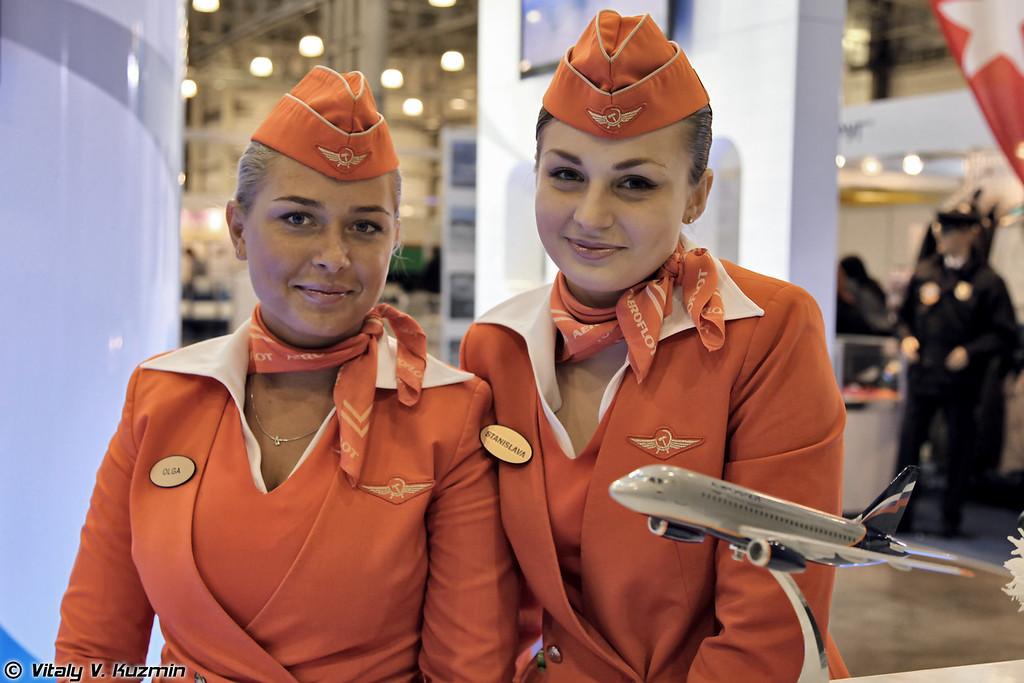 Представительницы прекрасной половины Аэрофлота (The ladies from Aeroflot)