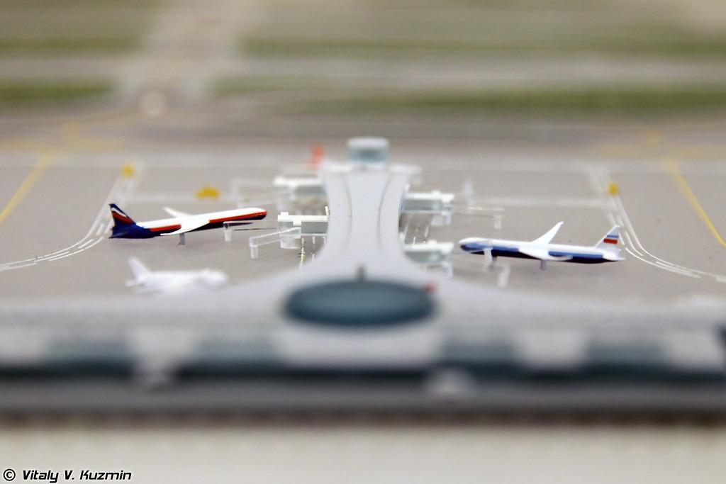 Модели терминалов международного аэропорта Шереметьево (Sheremetyevo terminals model)