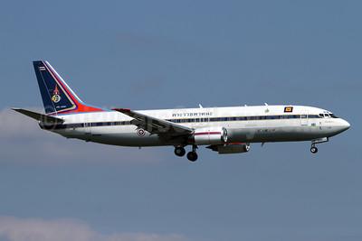 Royal Thai Air Force Boeing 737-448 HS-HRH (msn 24866) ZRH (Andi Hiltl). Image: 929362.