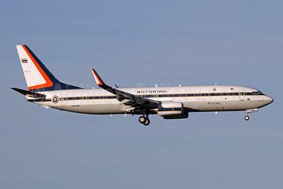 Royal Thai Air Force Boeing 737-8Z6 WL HS-HMK (msn 62445) ZRH (Andi Hiltl). Image: 943681.