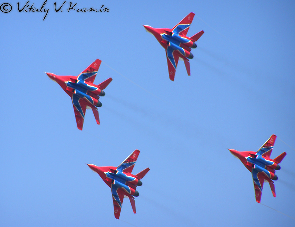 АГВП Стрижи МиГ-29 (MiG-29 The Swifts aerobatic team)