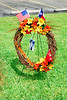 A wreath made by Lynn Adkins
