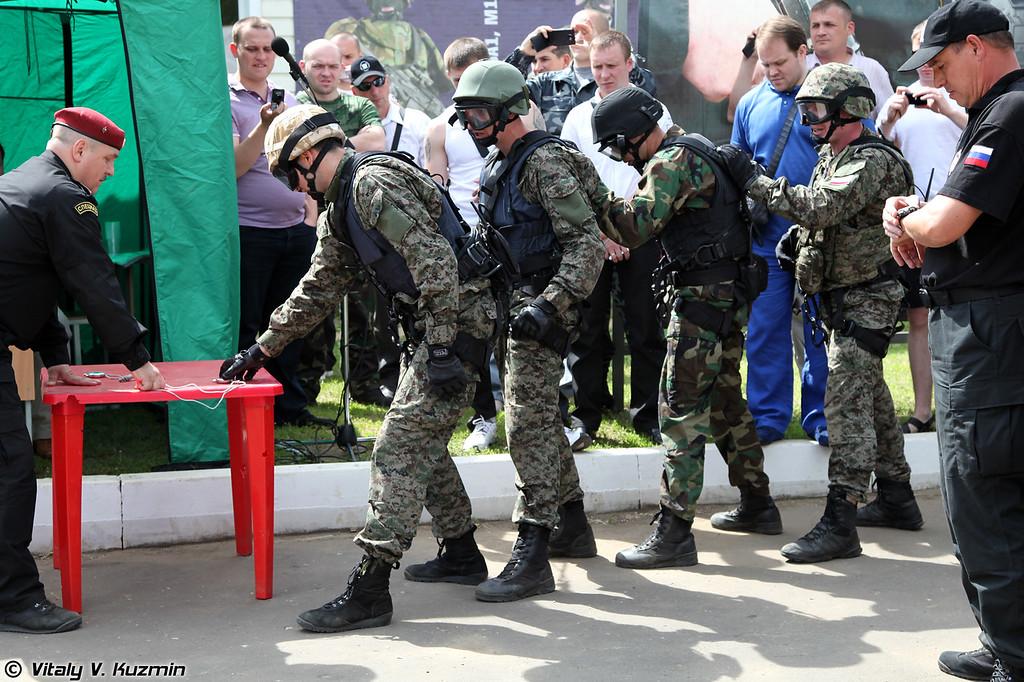 Победители соревнований - вторая команда Управления «А» ЦСН ФСБ России (The winner - second team Alfa)