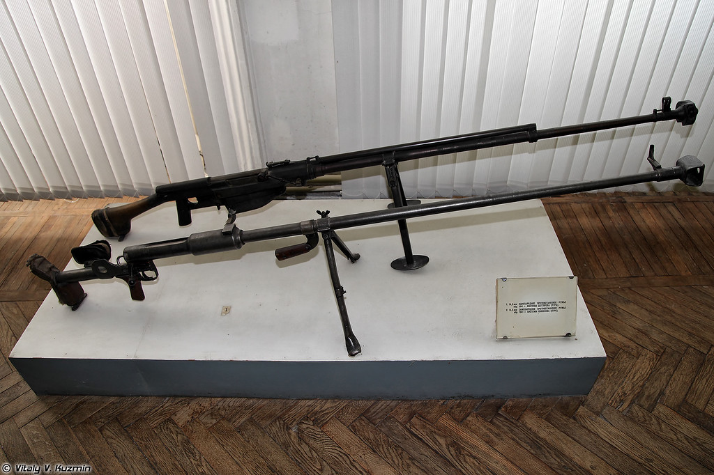 14,5-мм противотанковые ружья ПТРД и ПТРС (14.5mm anti-tank rifles PTRD and PTRS)