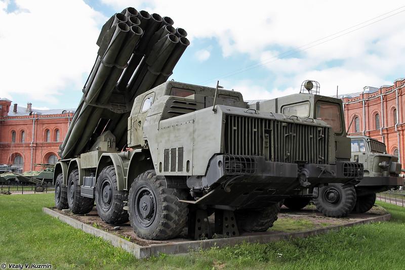 Боевая машина 9А52 РСЗО 9К58 Смерч (9A52 combat vehicle 9K58 Smerch MLRS)