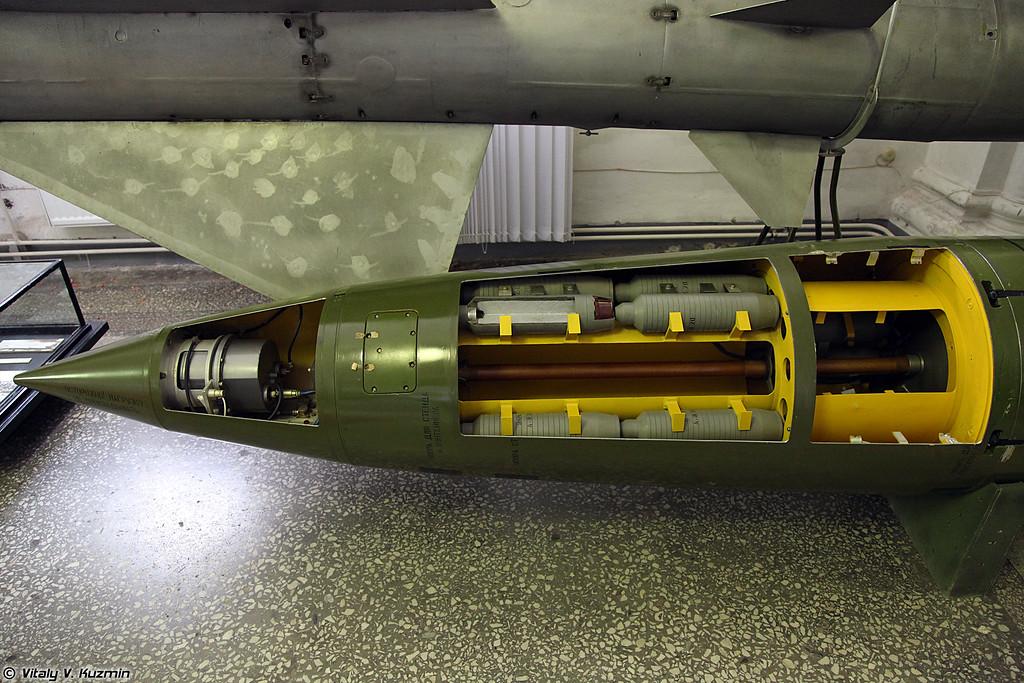 Управляемая ракета 9М79К с кассетной боевой частью ракетного комплекса 9К79 Точка (9M79K tactical ballistic missile for 9K79 Tochka missile system)
