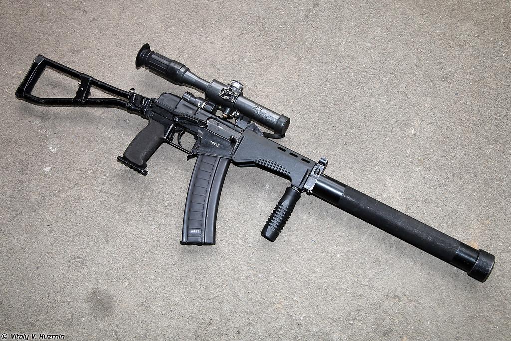9x39 модернизированный малогабаритный автомат СР3М с магазином на 30 патронов (9x39 modernized compact assault rifle SR3M with 30 rounds mag)