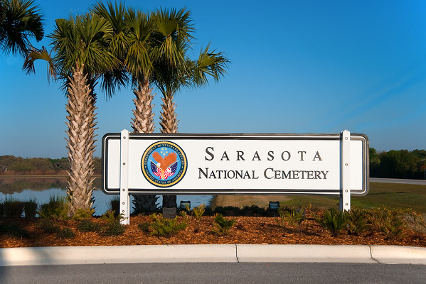 Entrance to the Sarasota National Cemetery on route 72, a few miles east of Sarasota.
