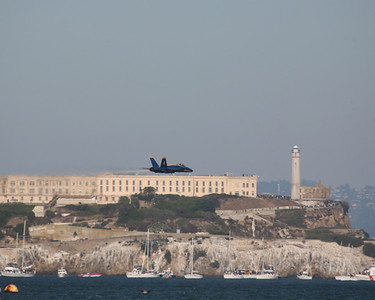 Blue Angel and Alcatraz, San Francisco, 2009
