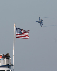 Blue Angel & Flag, San Francisco, 2009