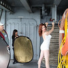 Behind the scenes, Calumet Pin-Up shoot, USS Hornet, Alameda, September 2010