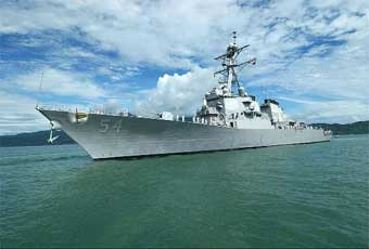The Arleigh Burke Class Guided Missile Destroyer is a multiple-mission capable Aegis guided missile destroyer.