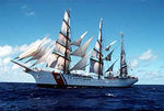 The U.S. Coast Guard Barque Eagle (WIX-327) is a training vessel for CG Academy Cadets.