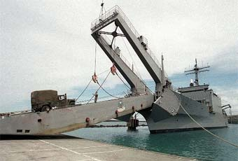 Tank landing ships (LST) are used to transport and land tanks, amphibious vehicles and other rolling stock in amphibious assault.