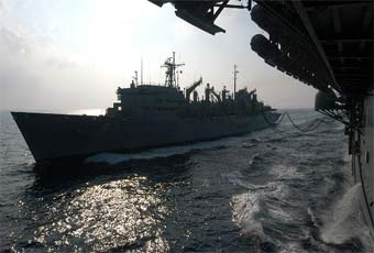 The fast combat support ship (AOE) is the Navy's largest combat logistics ship.