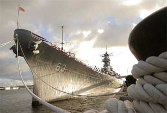 The Iowa Class Battleship is the last of the world's Surface Action capital ships.