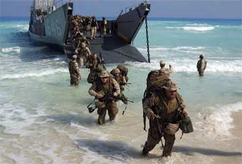 The Landing Craft, Mechanized and Utility (LCM/LCU) is used by amphibious forces to transport equipment and troops to the shore.