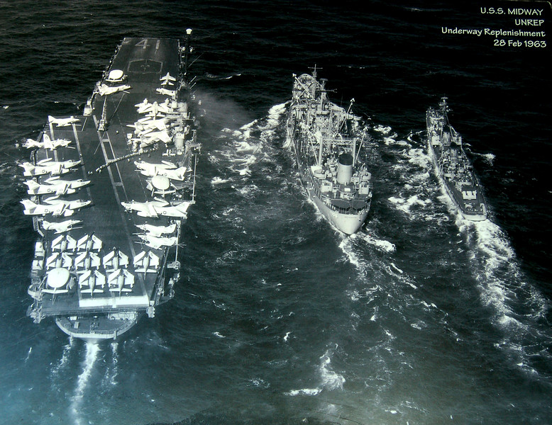 Midway upreps with Jupiter size Supply Ship