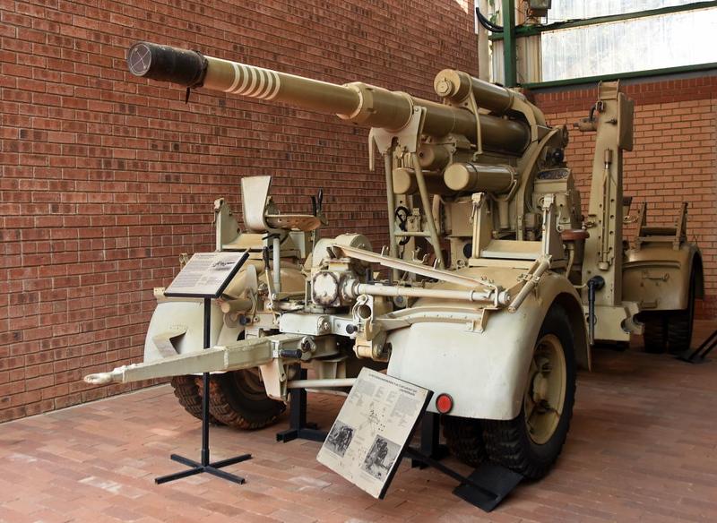 German 88mm anti-aircraft / tank gun model 37, South African National Museum of Military History, Johannesburg, 20 September 2018 1.