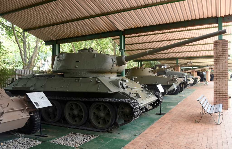 Soviet T-34 / 85 tank, South African National Museum of Military History, Johannesburg, 20 September 2018 1.
