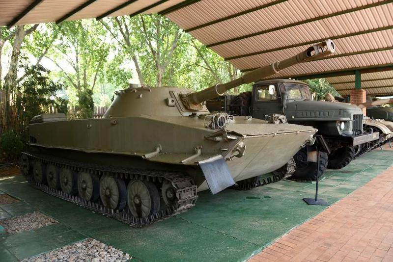 Soviet PT-76 model 2 amphibious reconnaissance tank, South African National Museum of Military History, Johannesburg, 20 September 2018.