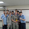 Mentors to the winners of the Korean Squadron Officer's School speaking competition...and no that's not a trphy in the shape of a bottle of alcohol, that is alcohol.