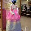 model of custom designed Korean formalwear.