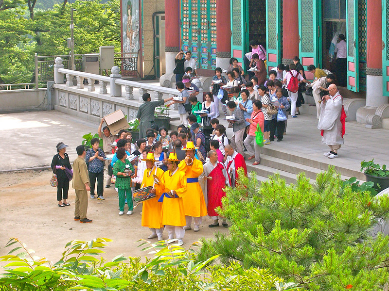 the start of a procession