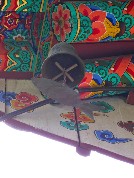 common temple wind chime in the shape of a fish