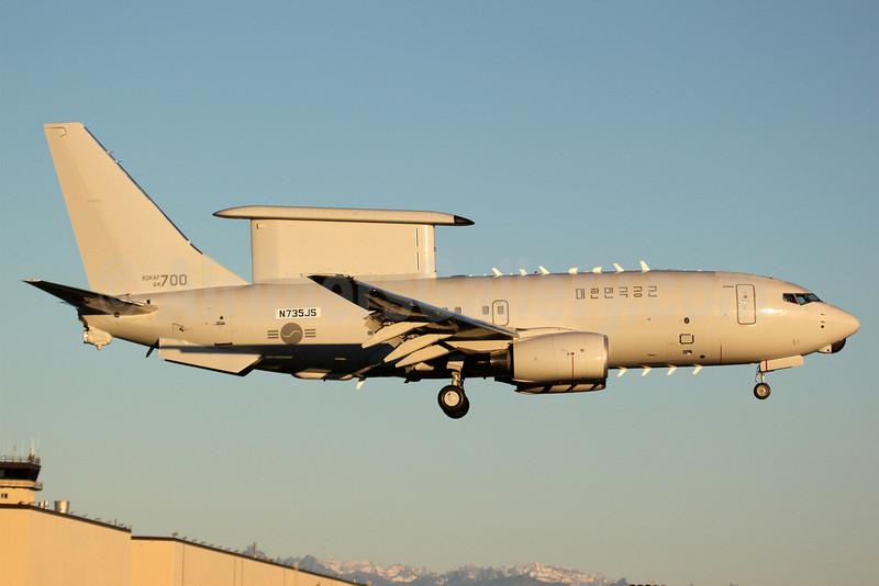 South Korean Air Force Boeing 777-7ES Wedgetail N735JS (64-700) PAE (Nick Dean). Image: 906871.