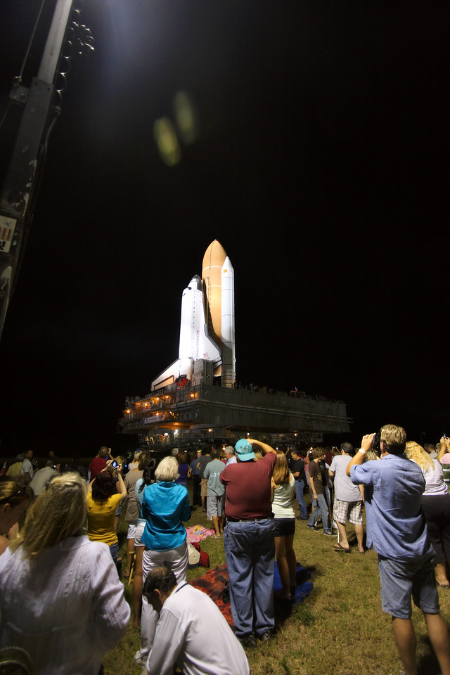 Space Shuttle Atlantis Final Rollout from V A B  5-31-11 (30)