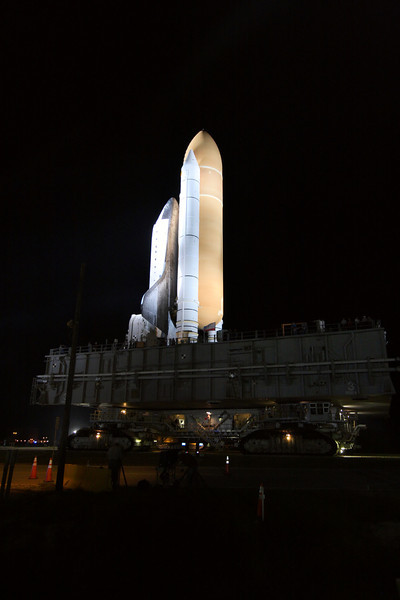 Space Shuttle Atlantis Final Rollout from V A B  5-31-11 (23)