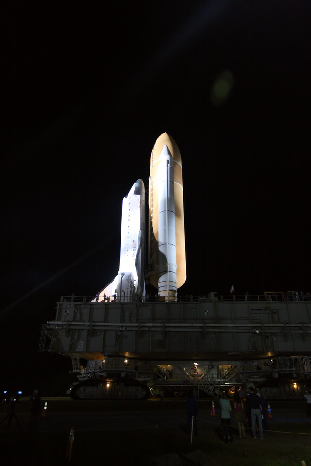 Space Shuttle Atlantis Final Rollout from V A B  5-31-11 (24)