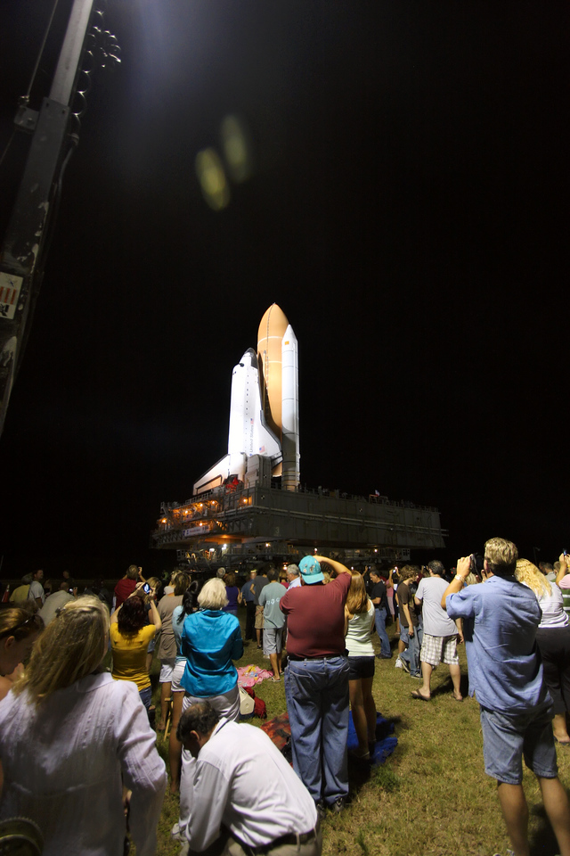 Space Shuttle Atlantis Final Rollout from V A B  5-31-11 (31)