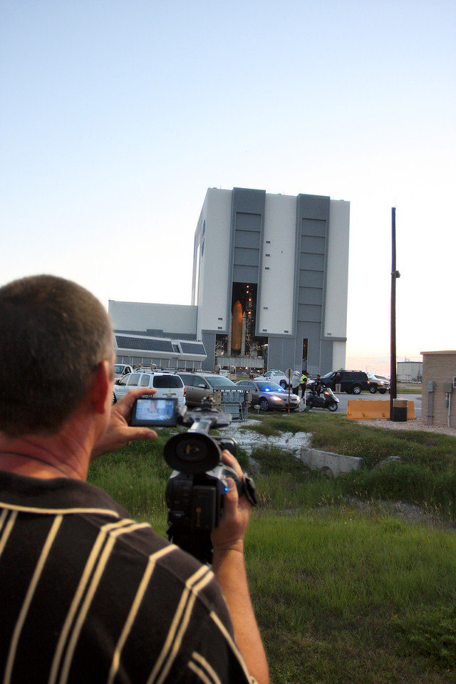 Space Shuttle Atlantis Final Rollout from V A B  5-31-11 (11)