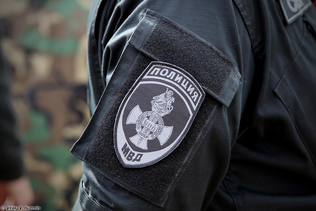 Нарукавный знак СОБР ЦСН ГУ МВД России по г.Москве (Moscow SOBR sleeve patch)