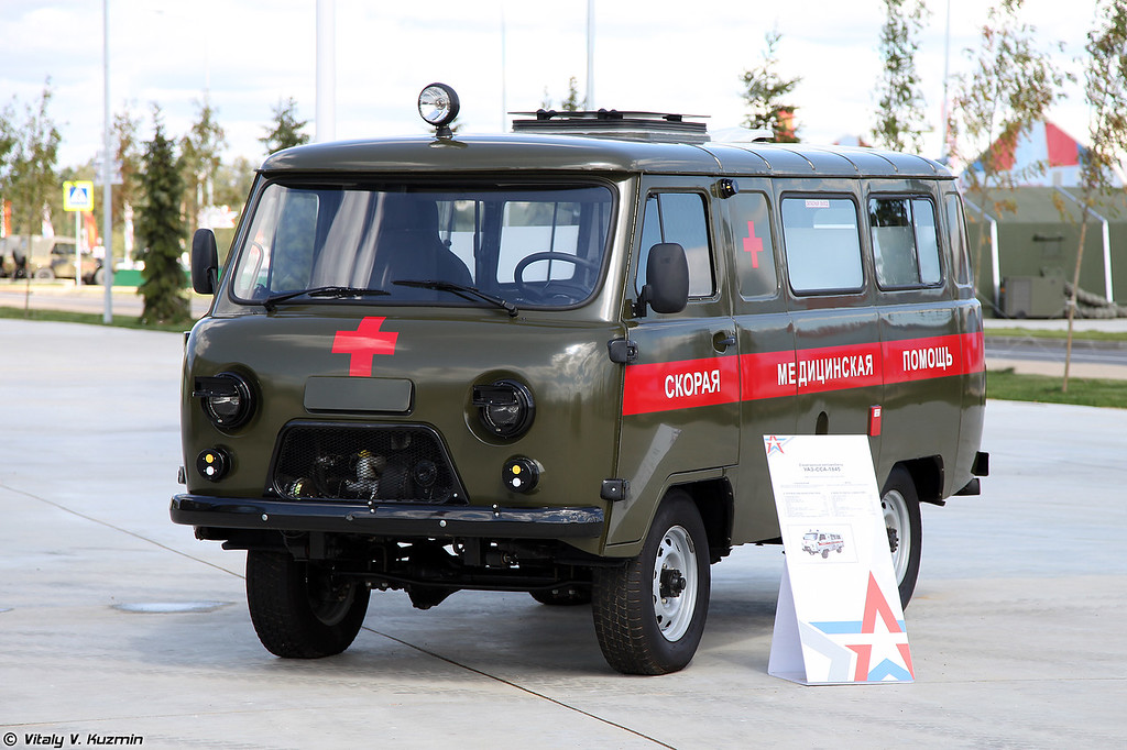 Санитарный автомобиль УАЗ-ССА-1845 (UAZ-SSA-1845 medical vehicle)