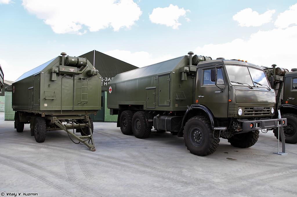 Комплекс дезинфекционно-душевой ДДК-01 на шасси КАМАЗ-43118 (DDK-01 disinfection-shower complex on KAMAZ-43118 chassis)