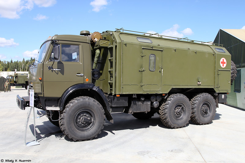 Автоперевязочная АП-2 на шасси КАМАЗ-43114 (AP-2 medical vehicle on KAMAZ-43144 chassis)