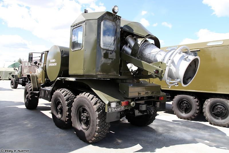 Тепловая машина специальной обработки ТМС-65У (TMS-65U decontamination vehicle)
