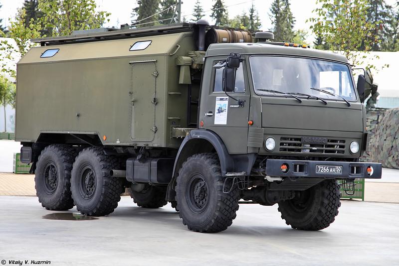 Машина комплекса поиска и пеленгования источников радиоизлучений Свет-КУ (Svet-KU ECM vehicle)